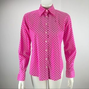 Lilly Pulitzer Button Polka Dot Shirt Pink 4